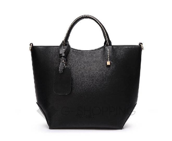 Женская черная сумка среднего размера на молнии c085 Kingth Goldn, фото 4