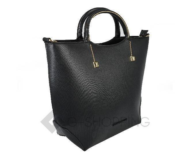 Женская черная сумка среднего размера на молнии c085 Kingth Goldn, фото 5