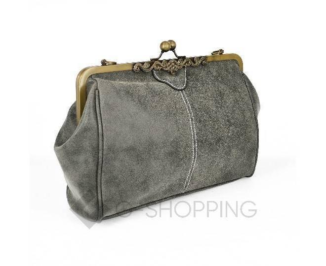 Женская повседневная серая сумка среднего размера c086 Kingth Goldn, фото 4