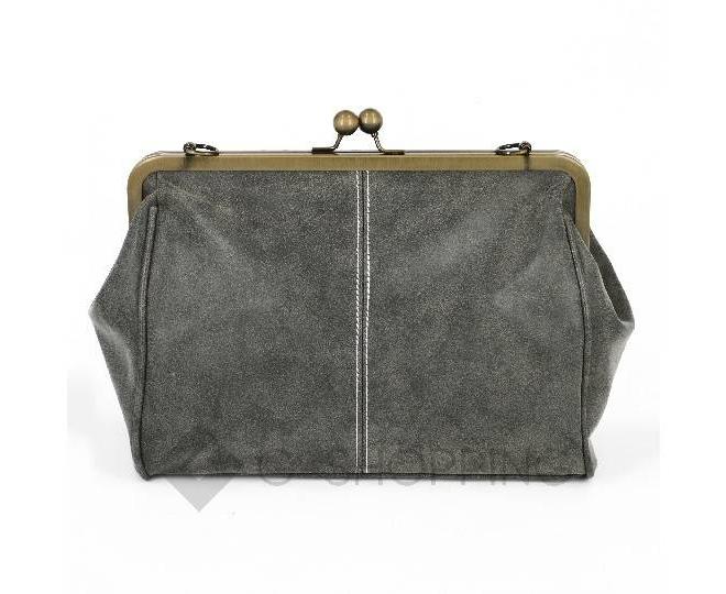Женская повседневная серая сумка среднего размера c086 Kingth Goldn, фото 5