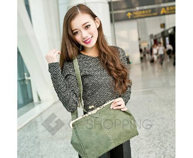 Женская повседневная серая сумка среднего размера c086 Kingth Goldn, фото 6