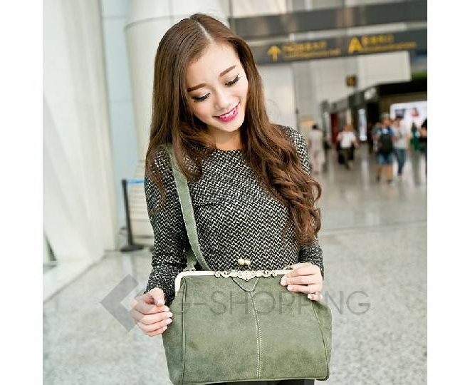 Женская повседневная серая сумка среднего размера c086 Kingth Goldn, фото 7