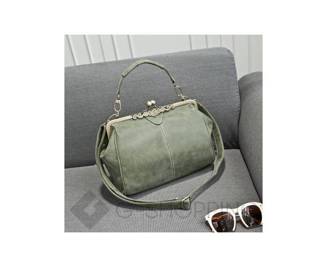 Женская повседневная серая сумка среднего размера c086 Kingth Goldn, фото 8