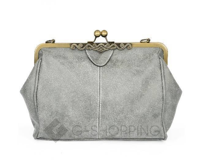 Женская повседневная светло-серая сумка среднего размера c086 Kingth Goldn, фото 4