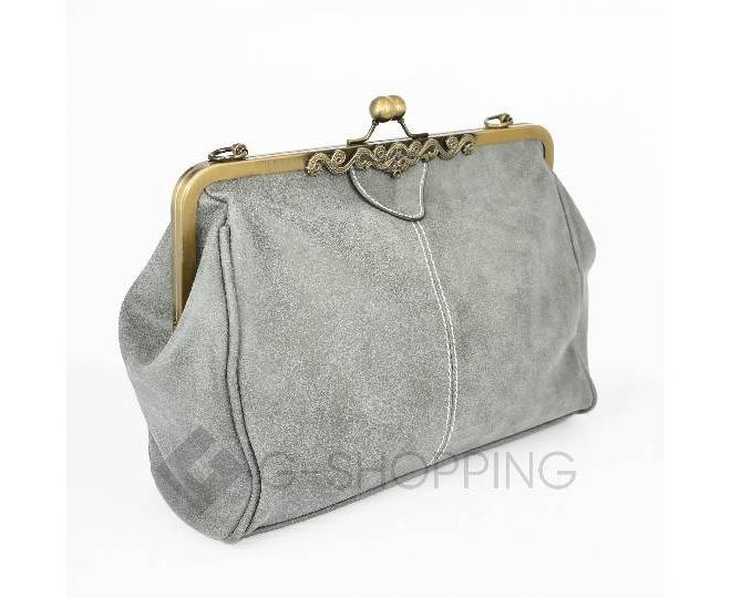 Женская повседневная светло-серая сумка среднего размера c086 Kingth Goldn, фото 5