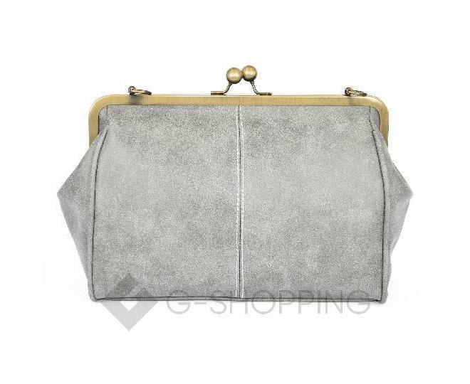 Женская повседневная светло-серая сумка среднего размера c086 Kingth Goldn, фото 6