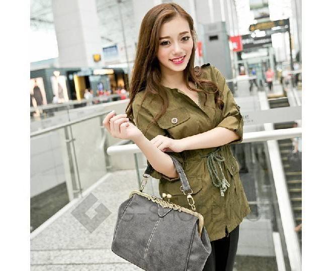 Женская повседневная светло-серая сумка среднего размера c086 Kingth Goldn, фото 7