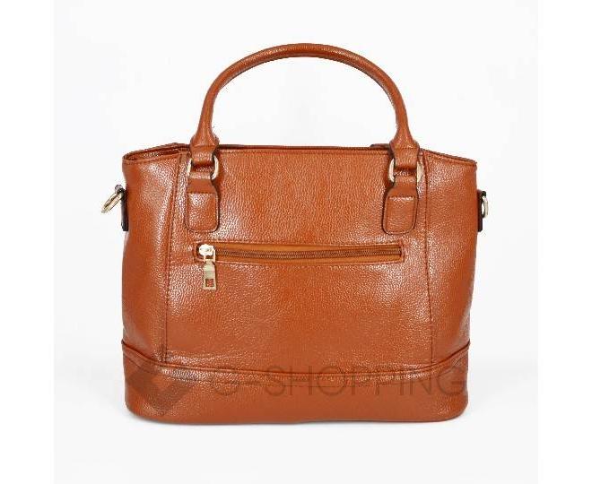 Женская коричневая повседневная сумка на молнии среднего размера Kingth Goldn, фото 3