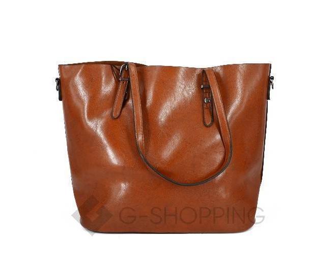 Повседневная женская коричневая сумка на молнии c089 Kingth Goldn, фото 1