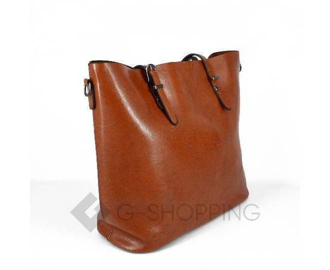 Повседневная женская коричневая сумка на молнии c089 Kingth Goldn, фото 2