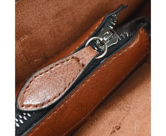 Повседневная женская коричневая сумка на молнии c089 Kingth Goldn, фото 4
