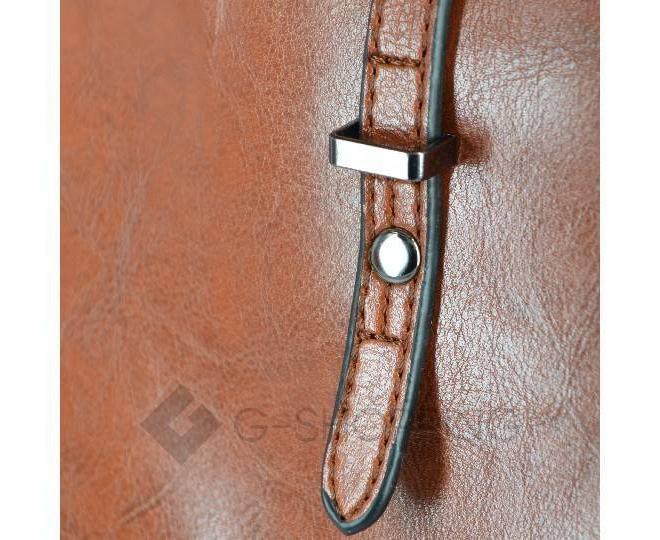 Повседневная женская коричневая сумка на молнии c089 Kingth Goldn, фото 5