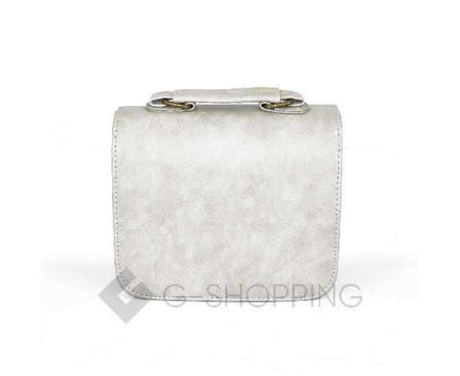 Женская маленькая серая сумка кросс-боди на магнитной застежке c083 Kingth Goldn, фото 9