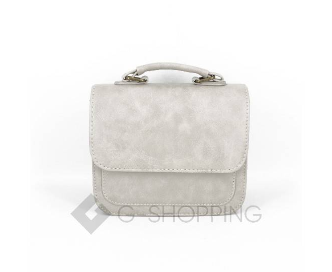Женская маленькая серая сумка кросс-боди на магнитной застежке c083 Kingth Goldn, фото 10