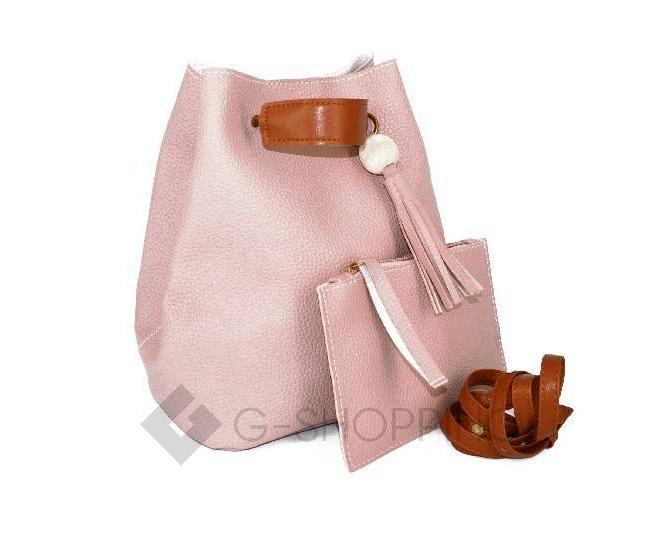 Повседневная женская розовая сумка среднего размера с магнитной кнопкой c091 Kingth Goldn, фото 5