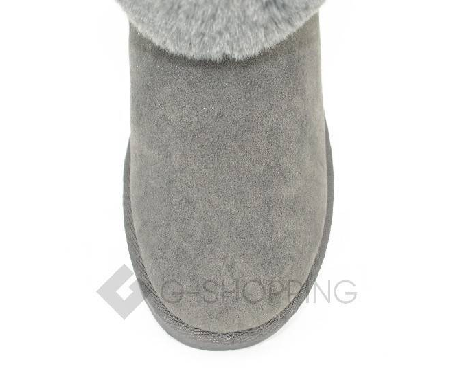 Угги женские серые 705 из мягкой искусственной замши размер 39, фото 4