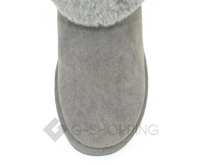 Угги женские серые 705 из мягкой искусственной замши, фото 4