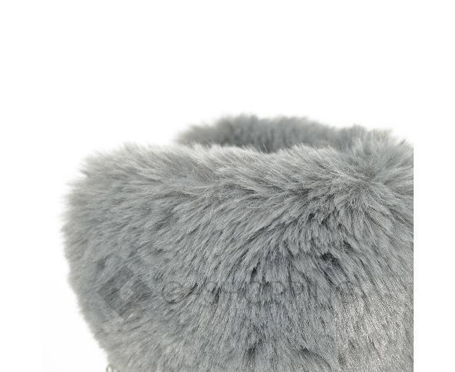 Угги женские серые 705 из мягкой искусственной замши размер 36, фото 5