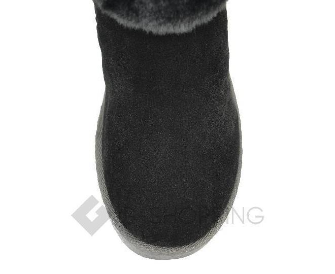Угги женские черные 705 из мягкой искусственной замши размер 38, фото 4