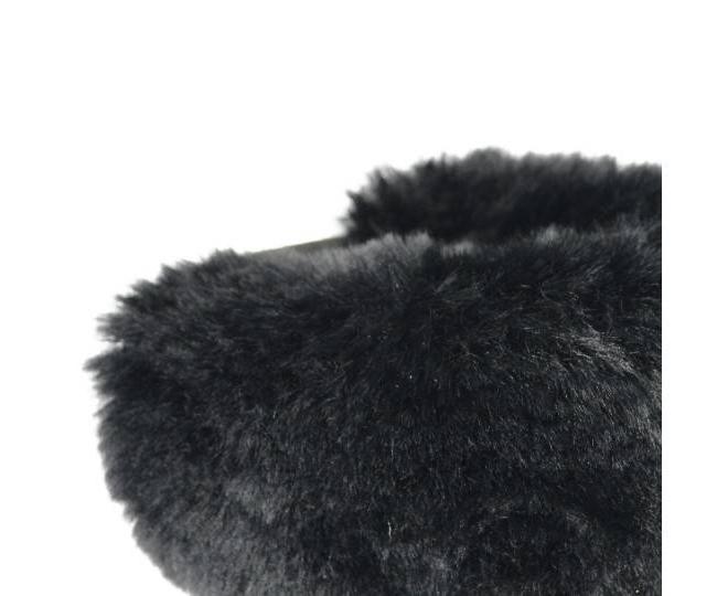 Угги женские черные 705 из мягкой искусственной замши размер 39, фото 5