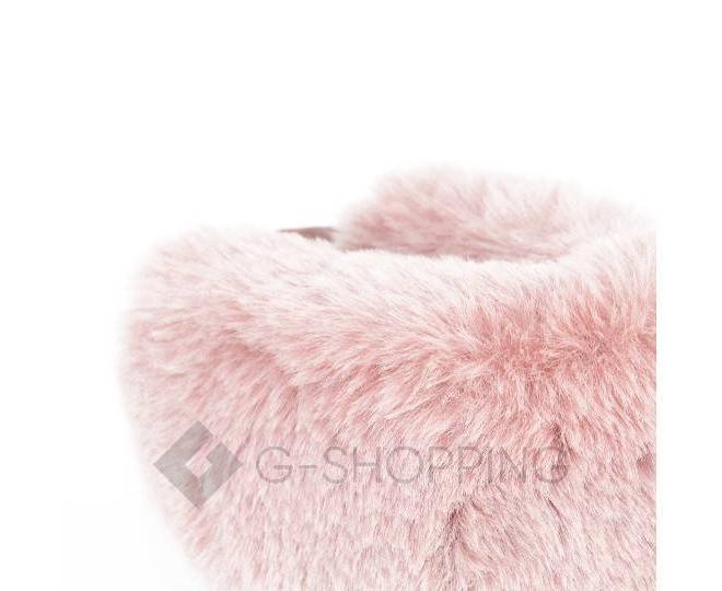 Угги женские розовые 708 из мягкой искусственной замши размер 36, фото 5
