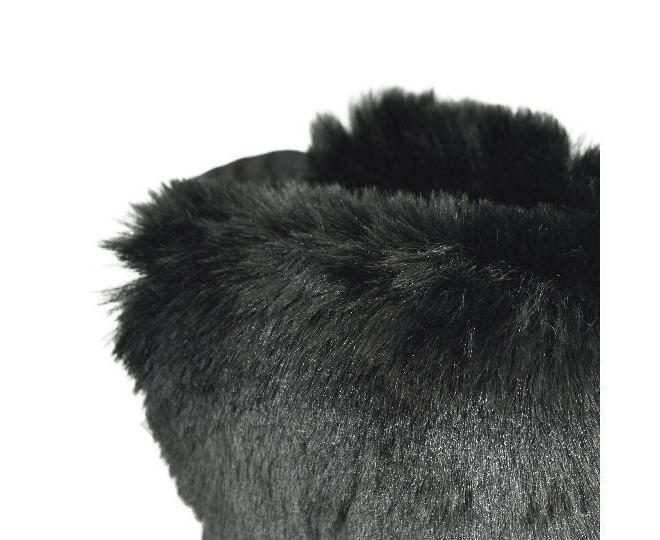 Угги женские черные 708 из мягкой искусственной замши размер 36, фото 4