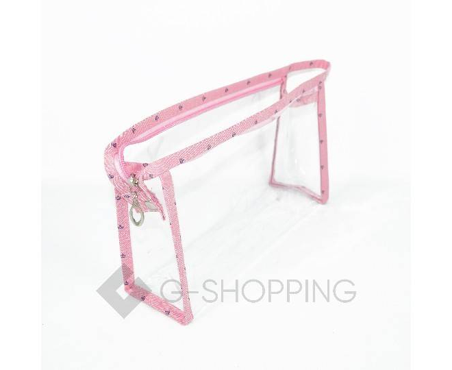 Комплект женских косметичек розовый из трех удобных сумочек разного размера