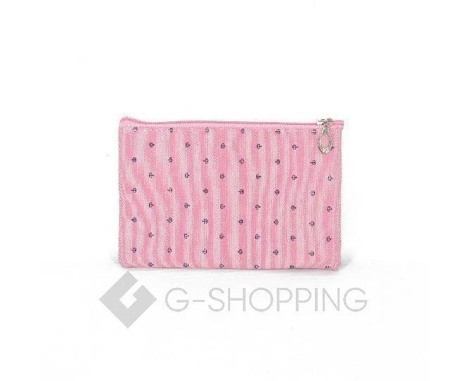 Комплект женских косметичек розовый из трех удобных сумочек разного размераКомплект женских косметичек розовый из трех удобных сумочек разного размера