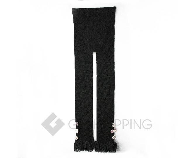 Леггинсы детские DDK-01 черный бисер LANYINGDI M, фото 1