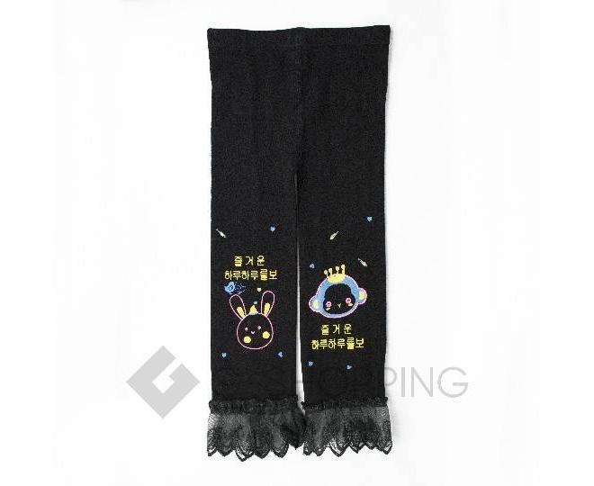 Леггинсы детские DDK-05 черный принт LANYINGDI L, фото 1