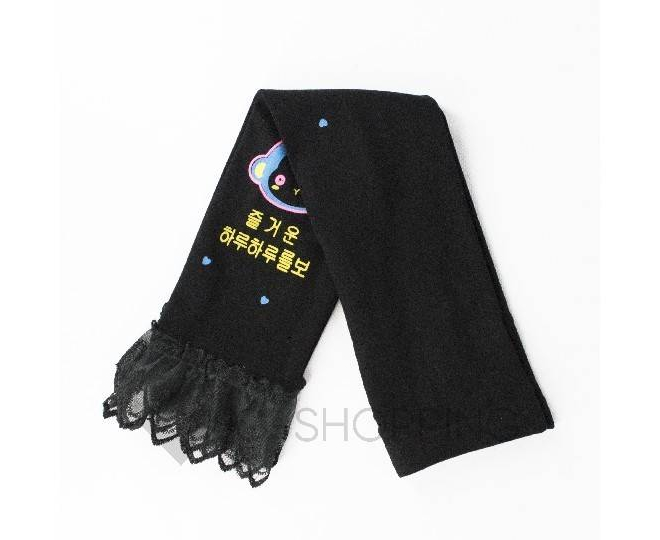 Леггинсы детские DDK-05 черный принт LANYINGDI L, фото 2