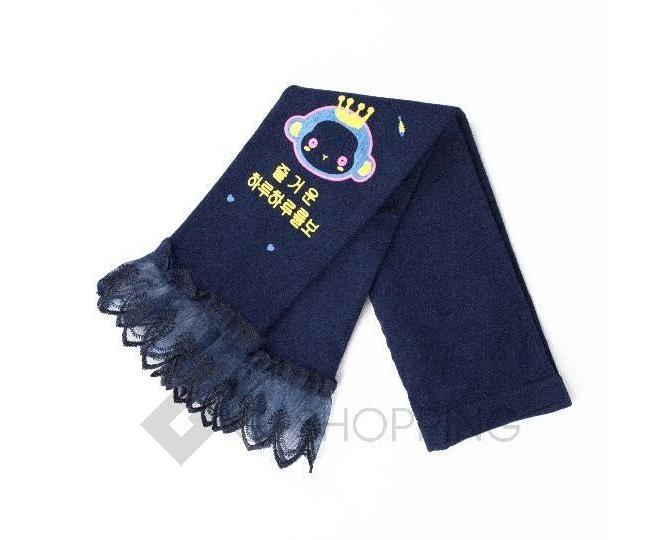 Леггинсы детские DDK-07 темно-синий принт LANYINGD M, фото 3