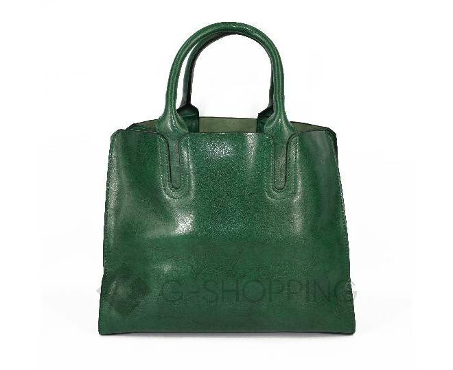 Женская сумка из экокожи на молнии изумрудно-зеленая C088-16 Kingth Goldn, фото 2