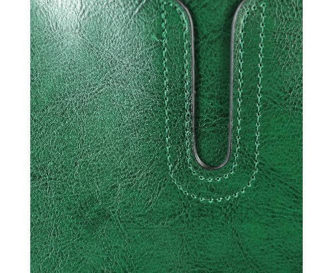 Женская сумка из экокожи на молнии изумрудно-зеленая C088-16 Kingth Goldn, фото 3