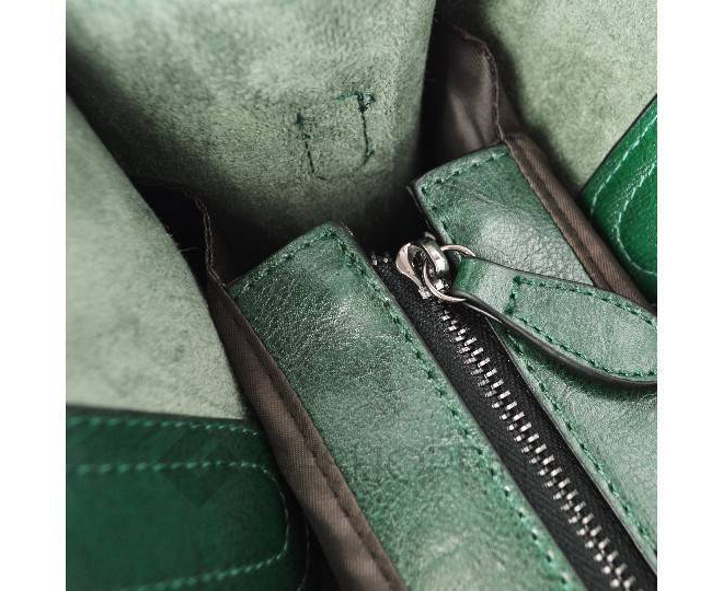 Женская сумка из экокожи на молнии изумрудно-зеленая C088-16 Kingth Goldn, фото 4