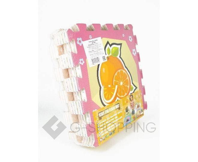 """Детская игра развивающий коврик пазл 3D Meitoku """"Cочные фрукты"""" 9 деталей, фото 2"""