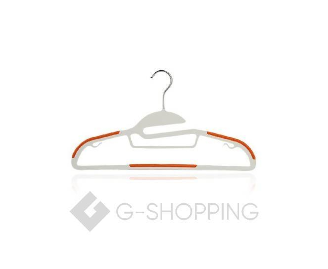Набор вешалок YJ-09 10 шт пластик оранжевый, фото 2