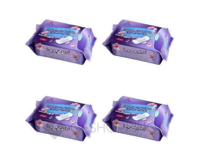 Комплект анионовых прокладок (удлиннённые ночные 6 шт), 4 уп, Цзе Ши, фото 1