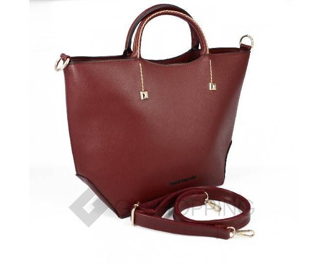Женская красная сумка среднего размера на молнии c085 Kingth Goldn, фото 4
