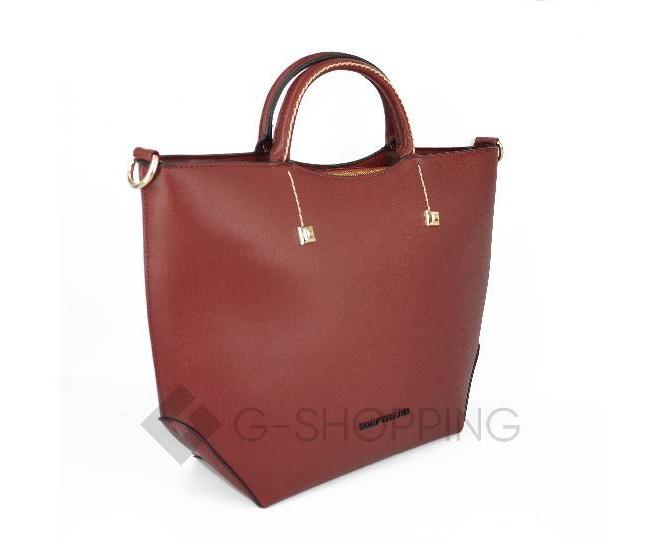 Женская красная сумка среднего размера на молнии c085 Kingth Goldn, фото 5