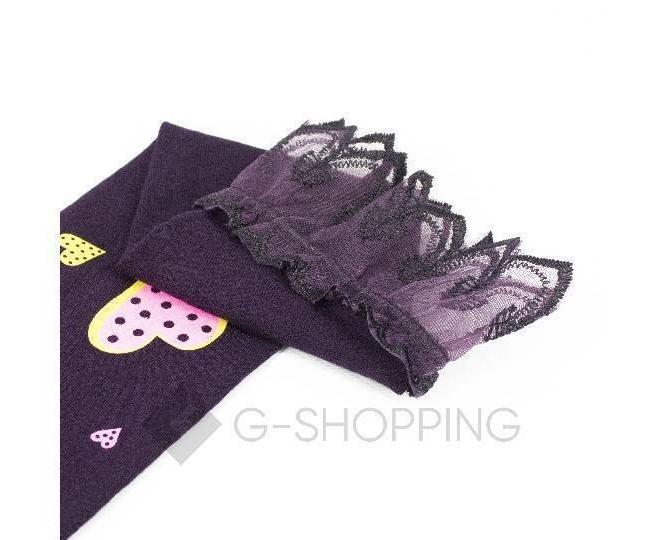 Леггинсы детские DDK-08 фиолетовый принт LANYINGDI M, фото 3