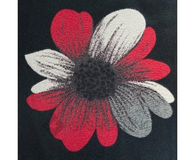"""Шарф флисовый WJ-02 """"Черный цветок"""" LANYINGDI"""