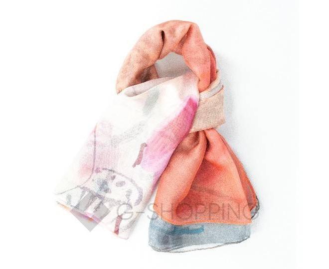 Женский шелковый шарф WJ-41 LANYINGDI