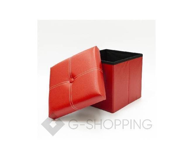 Табурет-ящик RYP56-08-30 30х30 красный, фото 2