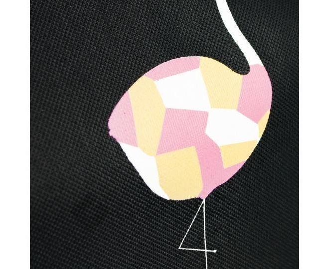 Женская черная текстильная термосумка среднего размера с принтом C095, фото 5
