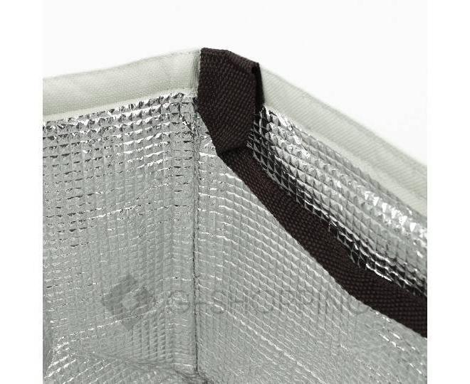 Женская серая текстильная термосумка среднего размера с принтом C095, фото 6