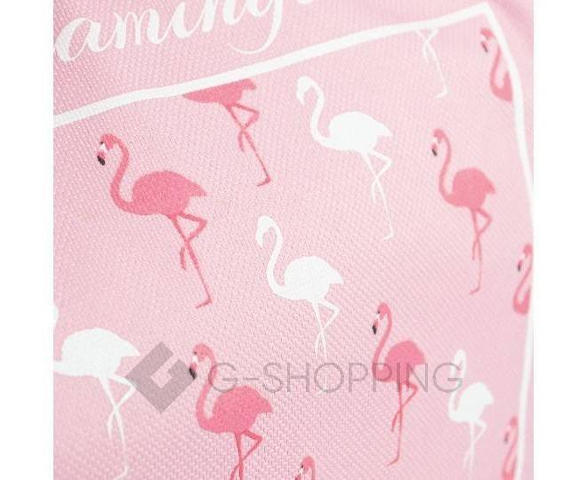 Женская розовая текстильная термосумка среднего размера с принтом C095, фото 5