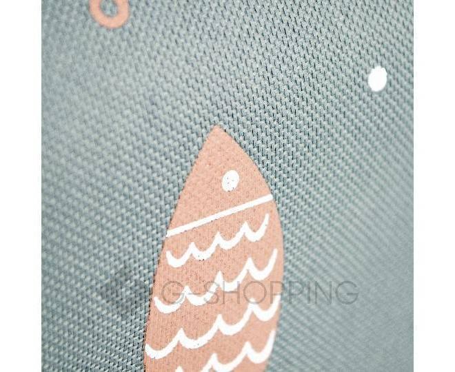 Женская темно серая текстильная термосумка среднего размера с принтом C096, фото 7