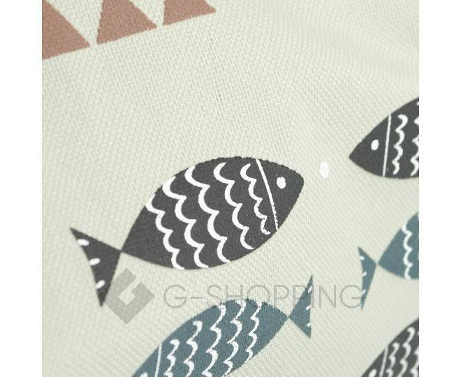 Женская серая текстильная термосумка среднего размера с принтом C096, фото 7