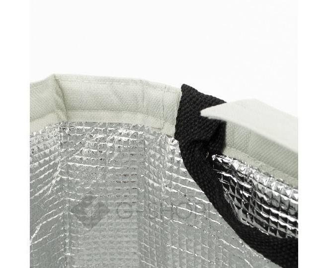 Женская серая текстильная термосумка среднего размера с принтом C096, фото 8